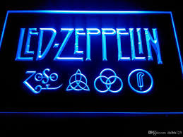 led zeppelin rock n roll punk neon light signs lf002b neon lights