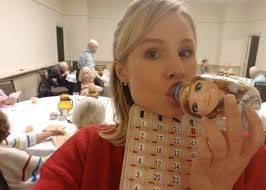 kristen bell performs frozen song at a hurricane irma shelter