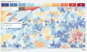 Census Tract Maps Map Shows Estimated Risk Of Lead Poisoning In Every U S Census