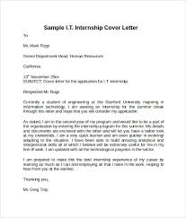 Cover Letter For Internship In Information Technology information technology cover letter cover letter for information