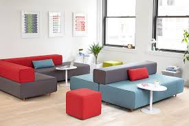 Block Party Lounge Bench Office Furniture Poppin Flexible - Office lounge furniture