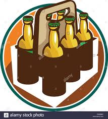 cartoon beer bottle beer bottle 6 pack retro stock vector art u0026 illustration vector
