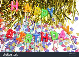 birthday cake candles forming sentence happy stock photo 73391146