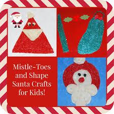 mistle toes and shape santa crafts for kids wikki stix