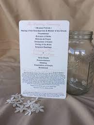 sided wedding programs program fan nestingproject
