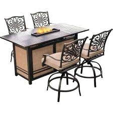 patio bar height dining set bar height patio table with pit electromagnetiqueprotection