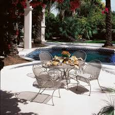Wrought Iron Patio Furniture Set by Furniture Wrought Iron Patio Round Table With Chair Uisng Carved