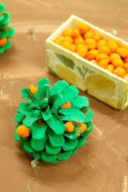 orange orchard pine cone craft for kids creative jewish mom