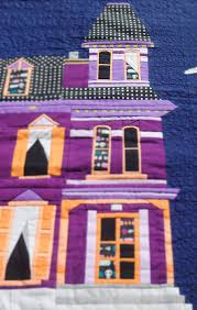 haunted house paper pieced mini quilt let u0027s create a paper