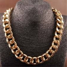 hip hop jewelry necklace images Cuban chains for men hip hop jewelry 18k gold color thick jpg
