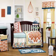 Bright Crib Bedding Blue And Orange Nursery Crib Sets Bedding For Baby And Boys
