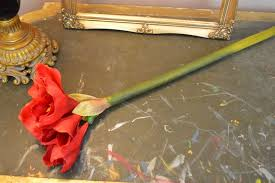 Silk Amaryllis Flowers - red artificial queen amaryllis heavenlyhomesandgardens co uk