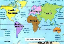 world map oceans seas bays lakes how to study earth through a globe or a map and what are oceans