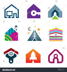 beautiful modern house creative ideas construction stock vector