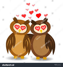 two lovers embracing wings owl eyes stock vector 706654627