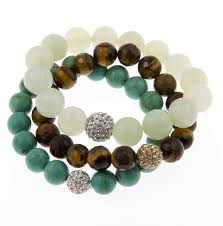 bracelet gemstone images Bijoux rocks luck courage protection karma power stack gemstone jpg