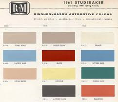 vintage studebaker paint colors vintage paint