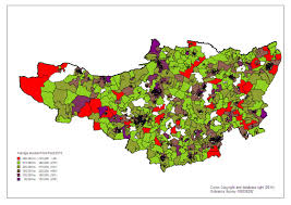 Somerset England Map House Prices 2014 Somerset Intelligence The Home Of