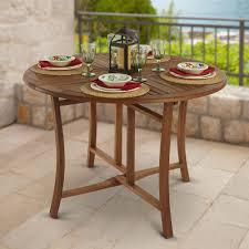 Eucalyptus Outdoor Table by The Brazilian Eucalyptus Foldaway Table Hammacher Schlemmer