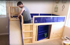 Dad Uses Ikea Hack To Make Amazing Loft Bed For Son Complete With - Ikea bunk bed slide