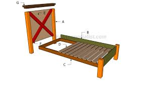 twin size bed frame plans howtospecialist how to build step