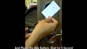 saflok guide how to using battere backup saflok youtube
