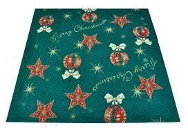 tappeti natalizi tappeto albero di natale passatoia 67x109 cm tuttitappetini