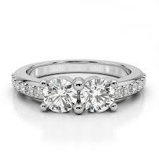 mothers day rings moissanite two diamond engagement ring promise or