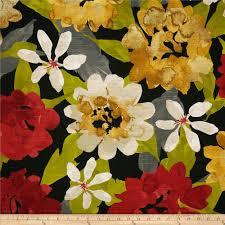Robert Allen Drapery Fabric Robert Allen Home Lush Floral Slub Red Lacquer Discount