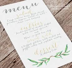 diy wedding menu cards 121 best i n v i t i e s images on wedding stuff