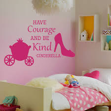 popular cinderella quotes wall decals buy cheap cinderella quotes wall decals quote cinderella have courage shoes decal girl room sticker china