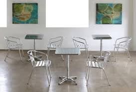 Aluminum Bistro Chairs Aluminum Bistro Chair 6 Restaurant Institutional Products