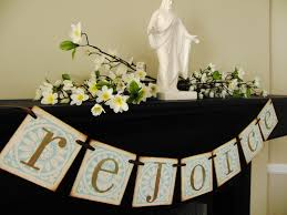 easter religious decorations christian easter decoration rejoice banner sign garland swag
