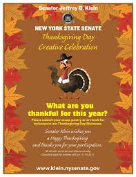 senator klein launches 34th senate district thanksgiving poster