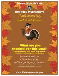 senator klein launches 34th senate district thanksgiving poster