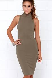 modern dress elliatt modern dress khaki dress midi dress bodycon dress