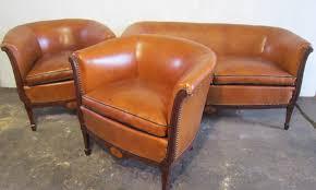 canape deco cuir salon déco ées 1930 l atelier du cuir bretagne