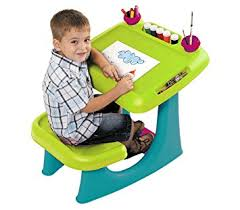 play desk for amazon com keter sit draw kids art table creativity desk with