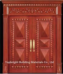 Wooden Main Door China Villa Exterior Main Door Double Door Design Solid Wood House