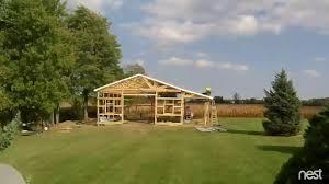 pole barn start to finish 32x40x12 time lapse youtube