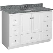 Ready To Assemble Bathroom Vanity by Simplicity By Strasser Shaker 48 In W X 21 In D X 34 5 In H