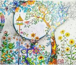 74 secret garden coloring book pages completed inspiration