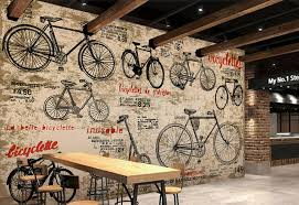 custom children u0027s wallpaper vintage bicycle 3d retro wall painting