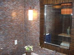 bathroom fascinating red glass tile for bathroom wall with white