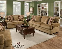 Albany Sectional Sofa Albany 8645 Traditional Stationary Sofa With Oversize Rolled Arms