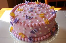 the buttercream bakery polka dot u0026 butterfly baby shower cake