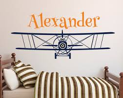 Personalized Wall Decals For Nursery Airplane Wall Decals Etsy