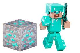 minecraft diamond steve figure toys