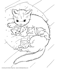 excellent kittens coloring pages kids book 4958 unknown