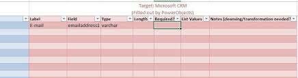 Data Mapping Excel Template Data Mapping The Crm Book